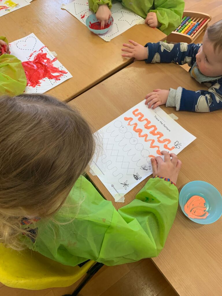 mark making literacy in daycare